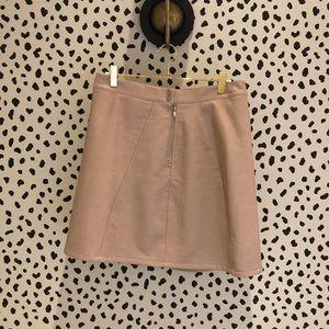Zara Leather Pink Zip Front Skirt